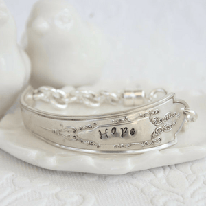 """Hope"" Handcrafted Vintage Spoon Bracelet"