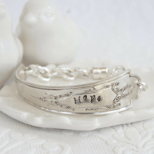 Hand-Stamped Vintage Spoon Bracelets | Choose Your Sentiment