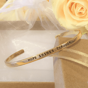 Gold Brass Skinny Cuff Bracelet | Hope Shines Through