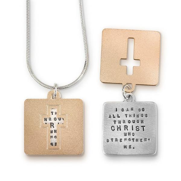 I Can Do All Things Through Christ Sterling Silver Necklace | Philippians 4:13 | Kathy Bransfield