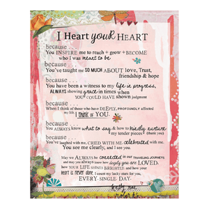 Kelly Rae Roberts I Heart Your Heart Manifesto Matted Print | Artist Signed