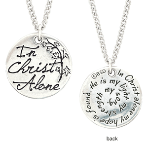 In Christ Alone Fine Pewter Necklace