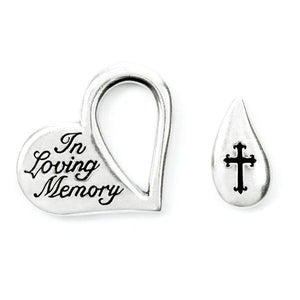 Fine Pewter Memorial Tear Pocket Token | In Loving Memory
