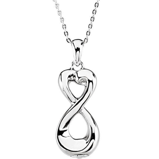 Sterling Silver Ash Holder | Infinite Love Memorial Necklace | Cremation Jewelry