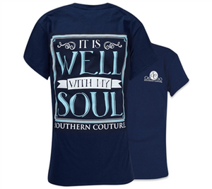 Southern Couture Christian T-Shirt | It is Well with My Soul