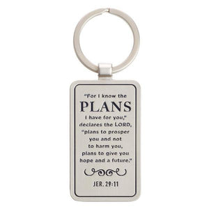 Scripture Verse Keychain | For I Know the Plans |  Jeremiah 29:11