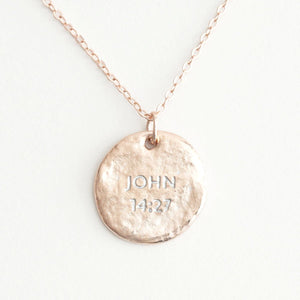 Peace (In) Courage Friendship Necklace Set | Wear One Share One | John 14:27