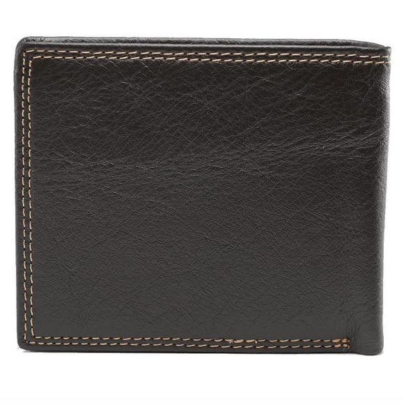Dark Brown Genuine Leather Men's Scripture Verse Wallet | John 3:16