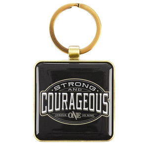 Scripture Verse Keyring | Strong and Courageous | Joshua 1:9