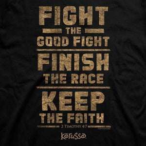 Kerusso Christian Shirt | Fight the Good Fight Finish The Race