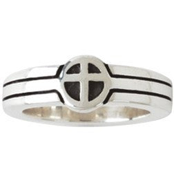 Sterling Silver Ladies' Cross Christian Ring - They Become One