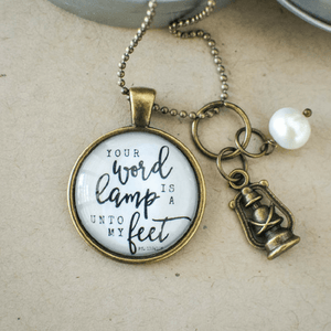 Christian Hymn Necklace |Thy Word Is A Lamp Unto My Feet