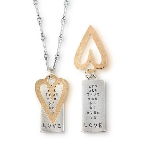 Let All That You Do Be Done In Love Sterling Silver Necklace | 1 Corinthians 16:14 | Kathy Bransfield