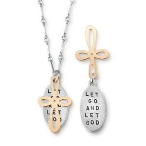 Let Go and Let God Kathy Bransfield Sterling Silver Necklace