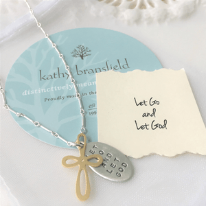 Let Go and Let God Sterling Silver Necklace | Kathy Bransfield