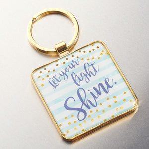 Scripture Verse Keychain  | Let Your Light Shine | Matthew 5:16