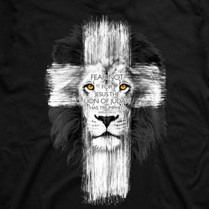Lion Cross Christian T-Shirt Close - Clothed with Truth