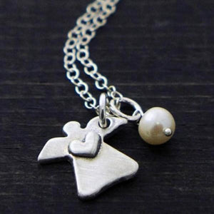 The Vintage Pearl Memorial Necklace | Little Angel