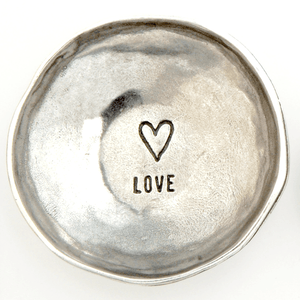 Fine Pewter Ring Dish | Love Heart