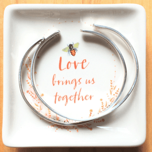 Ceramic Ring Holder | Love Brings Us Together