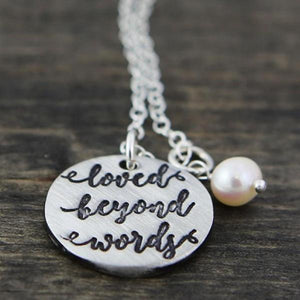 Loved Beyond Words Fine Pewter Necklace | The Vintage Pearl