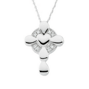 Sterling Silver Memorial Tear Cross Locket Necklace