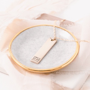 14k Gold Mizpah Necklace | Genesis 31:49