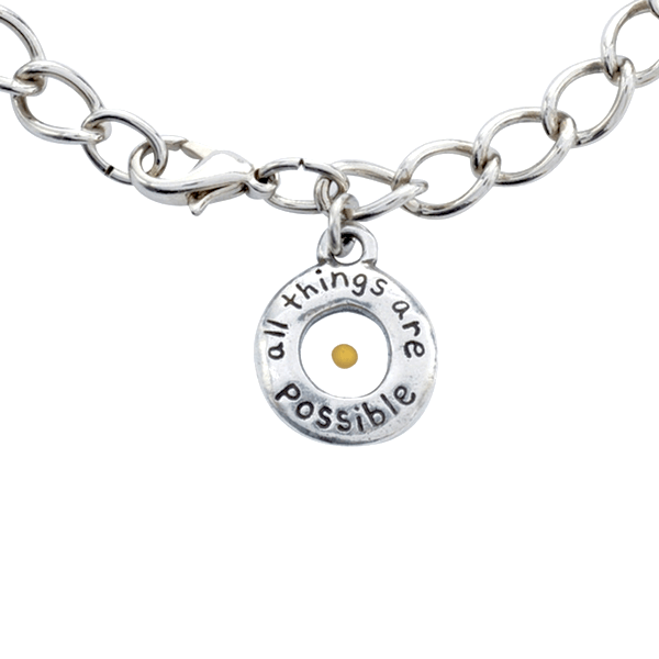 Fine Pewter Mustard Seed Bracelet | All Things are Possible | Matthew 17:20