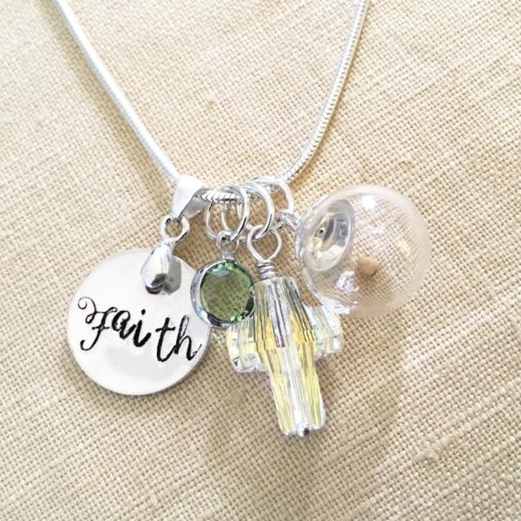 Mustard Seed Faith Necklace | Sterling Silver and Swarovski Crystal