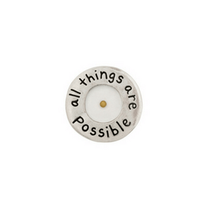Fine Pewter Christian Lapel Pin | Mustard Seed | All Things Are Possible