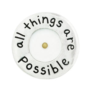 Fine Pewter Mustard Seed Pocket Token | All Things are Possible