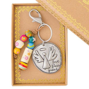 Guardian Angel Keychain | Love Bless Protect | Natural Life Santa Fe
