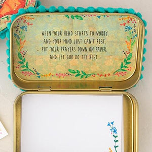 Natural Life Prayer Box | Go Confidently in the Direction of Your Dreams