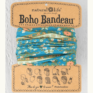 Blue Flower Medallion Boho Bandeau | Natural Life