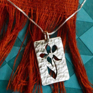 Sterling Silver Praiseworthy Flower Blossom Necklace | Philippians 4:8