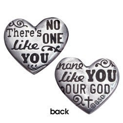 Fine Pewter Pocket Token | There Is No One Like You | Heart