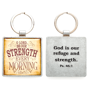 Lord Be Our Strength Scripture Verse Keychain | Isaiah 33:2
