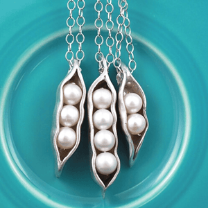 Sweet Peas in a Pod Freshwater Pearl Charm Necklace | The Vintage Pearl