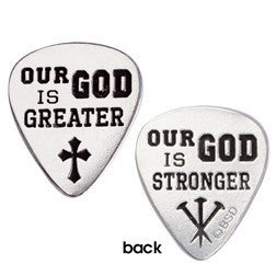 Pewter Pocket Token | Guitar Pick | Our God is Greater | Chris Tomlin