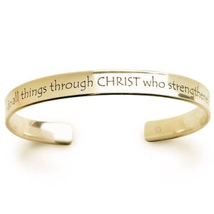 14k Gold Bible Verse Bracelet | Philippians 4:13 | I Can Do All Things Through Christ