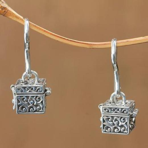 Sterling Silver Earrings | Prayer Box