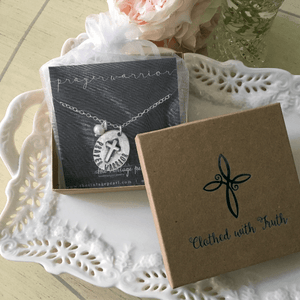 Prayer Warrior Fine Pewter Necklace | The Vintage Pearl
