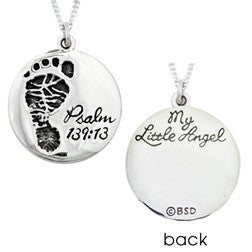 Handcrafted Sterling Silver Scripture Verse Necklace | My Little Angel | Psalm 139:13