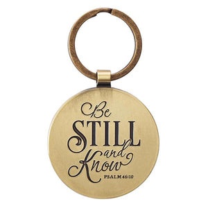 Be Still & Know Psalm 46:10 Keychain | Gift Packaged