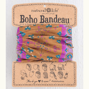 Gold & Purple Floral Mandala Boho Bandeau | Natural Life
