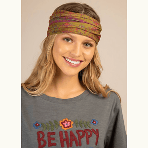 Red Pink Flower Medallion Boho Bandeau | Natural Life