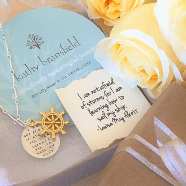 Sail My Ship Sterling Silver Quote Necklace | Kathy Bransfield
