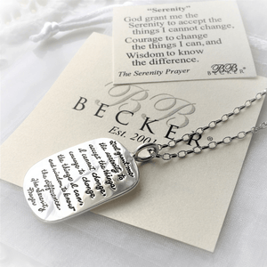 Sterling Silver Serenity Prayer Necklace | BB Becker