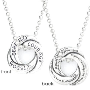 Fine Pewter Serenity Prayer Necklace