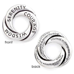 Fine Pewter Serenity Prayer Pocket Token